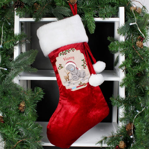 Personalised Me to You Reindeer Luxury Stocking | ShaneToddGifts.co.uk