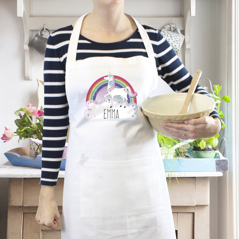 Personalised Unicorn White Apron