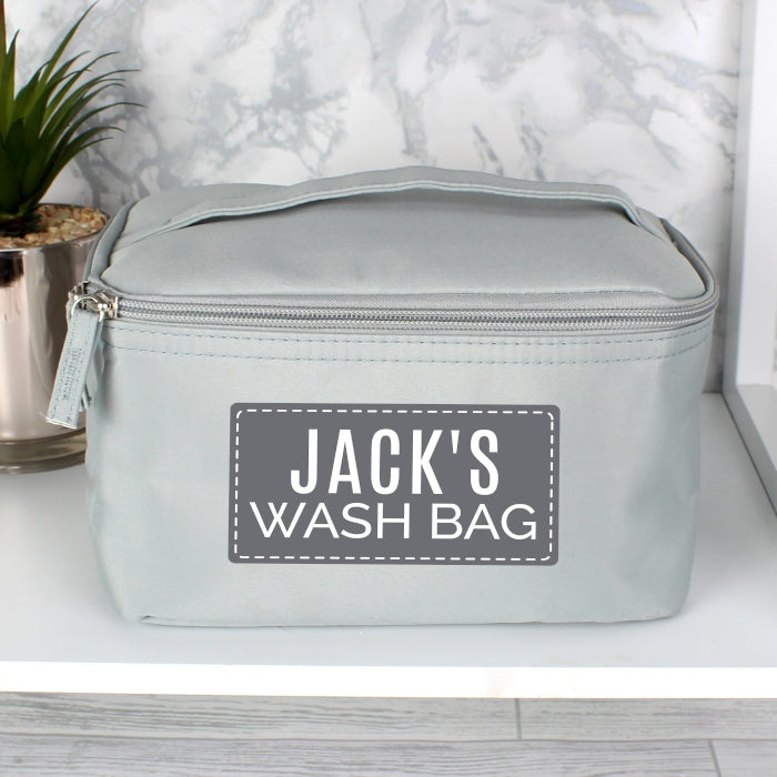 Personalised Classic Grey Vanity Bag, Luggage & Bags by Low Cost Gifts