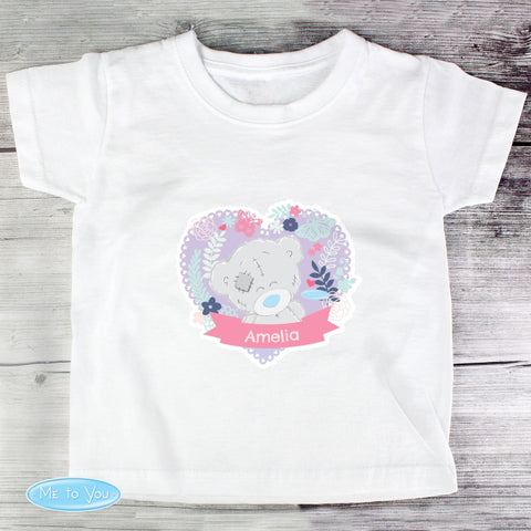 Personalised Tiny Tatty Teddy Girl's T-shirt 2-3 Years