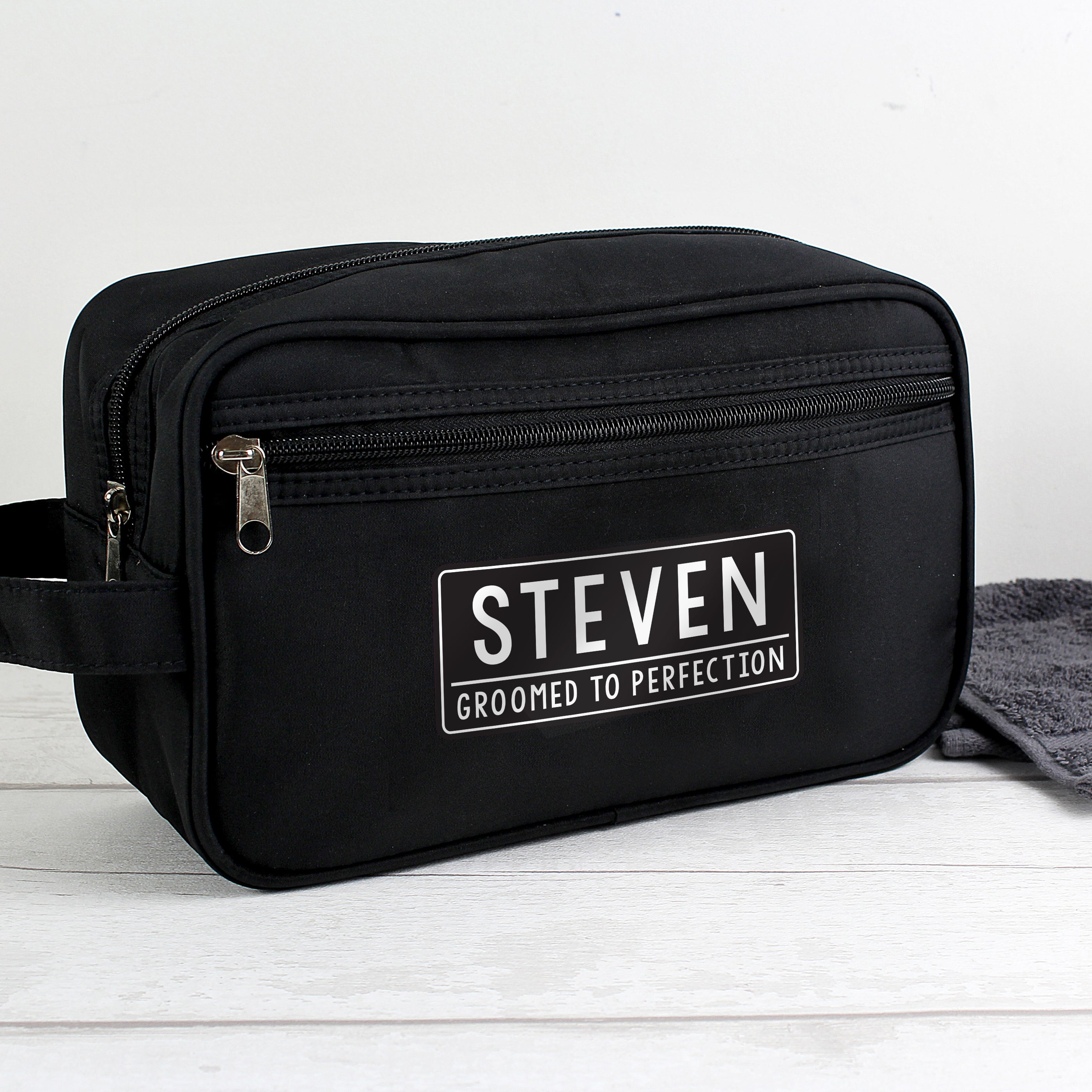 Personalised Free Text Black Vanity Bag, Furniture by Low Cost Gifts