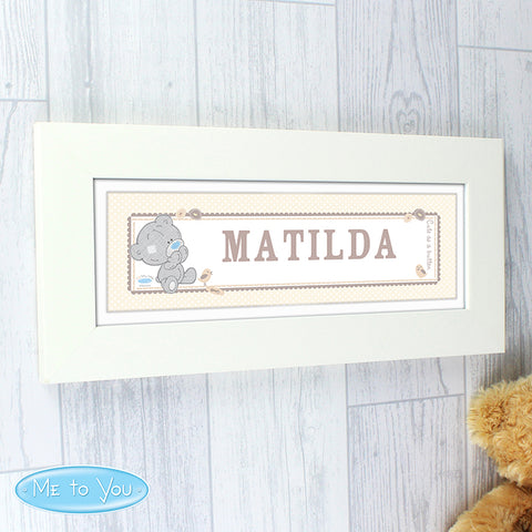 Buy Personalised Tiny Tatty Teddy Name Frame