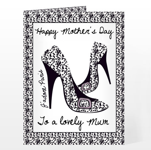 Buy Personalised J'adore Shoe Card