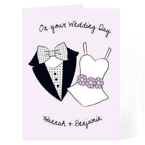 Buy Personalised On Your Wedding Day Card