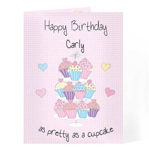 Buy Personalised Cupcake Card
