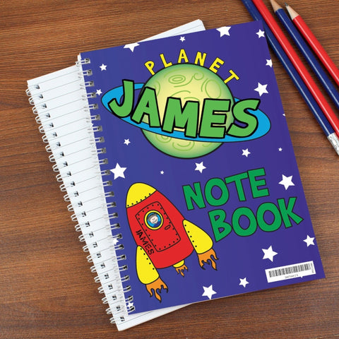 Buy Personalised Space A5 Notebook