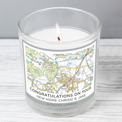 Present Day Map Compass Scented Jar Candle