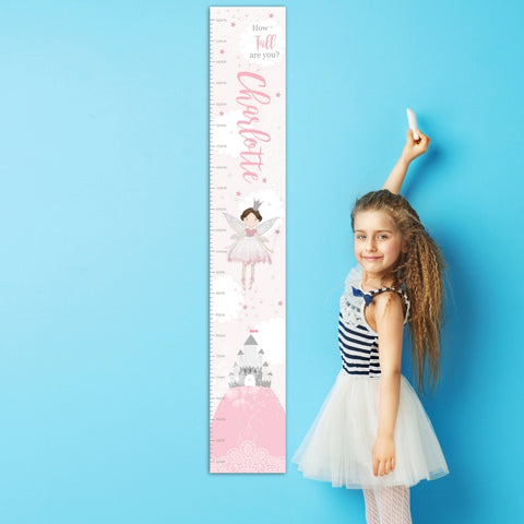 Personalised Fairy Princess Height Chart