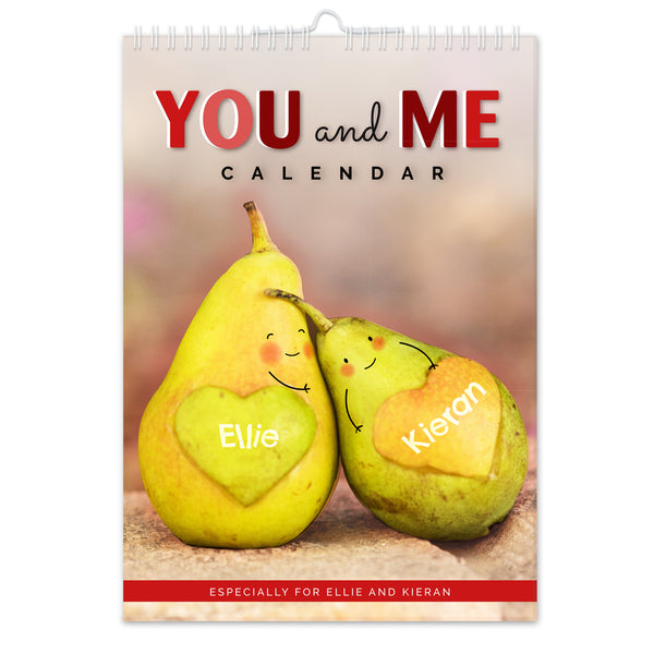 Personalised A4 Couple You And Me Calendar