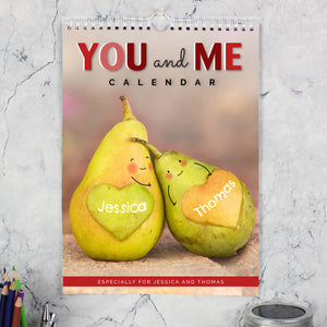 Personalised A4 Couple Calendar