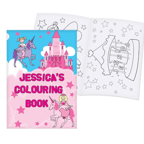 Buy Personalised Princess Colouring Book