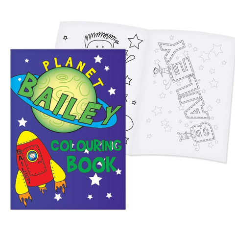 Buy Personalised Space Colouring Book