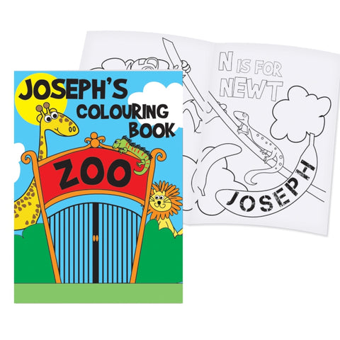 Buy Personalised Zoo Colouring Book