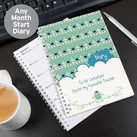 Personalised Mr Owl A5 Diary - Shane Todd Gifts UK