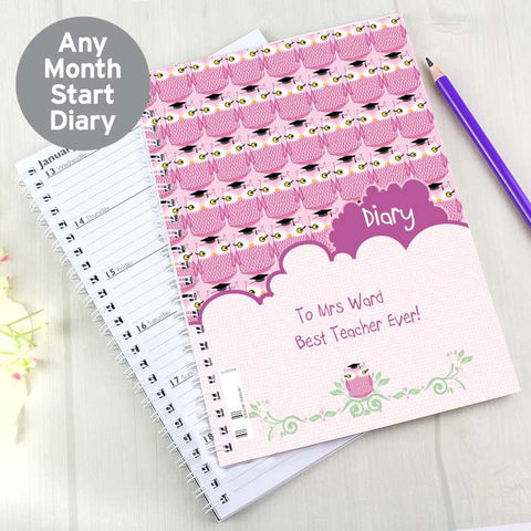 Personalised Miss Owl A5 Diary