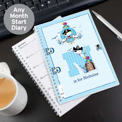 Buy Personalised Pirate A5 Diary
