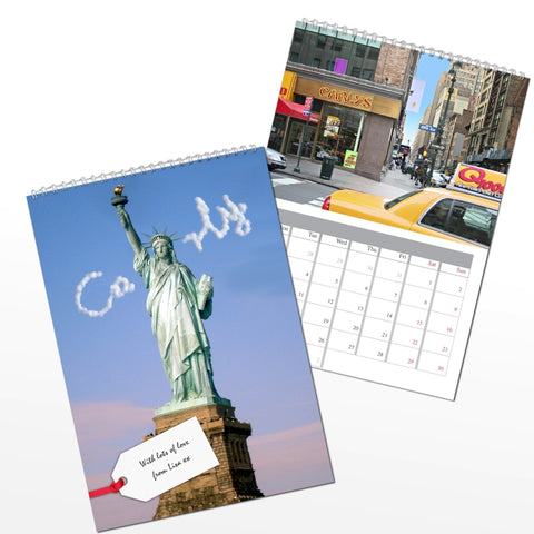 Personalised New York A4 Wall Calendar