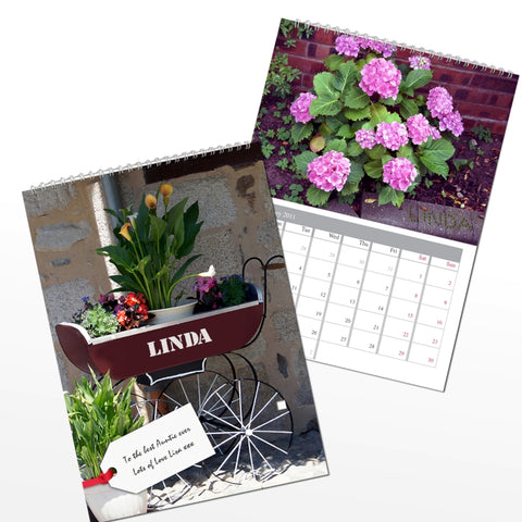 Buy Personalised Gardeners A4 Wall Calendar