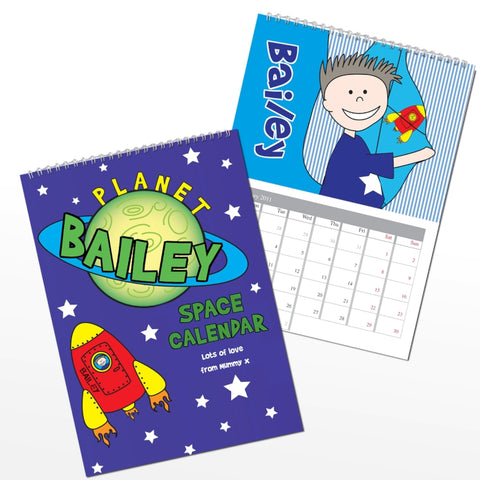 Buy Personalised Space A4 Wall Calendar