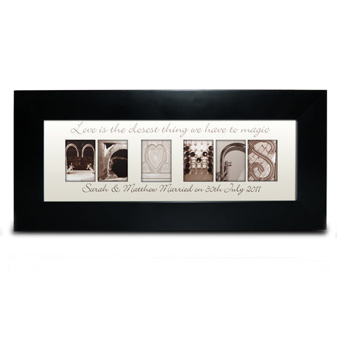 Buy Personalised Affection Art Mr & Mrs Small Frame
