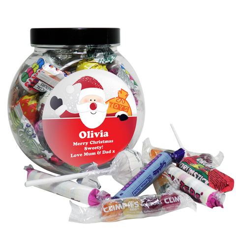 Buy Personalised Santa Round Sweet Jar