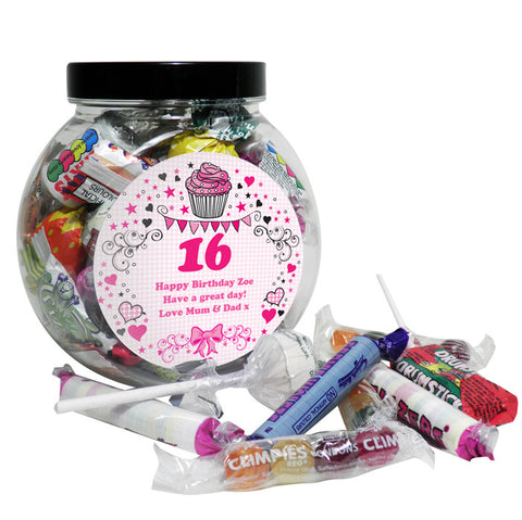 Buy Personalised Big Age Sweet Jar