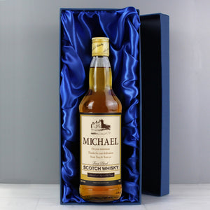 Personalised Traditional Castle Whisky with Gift Box