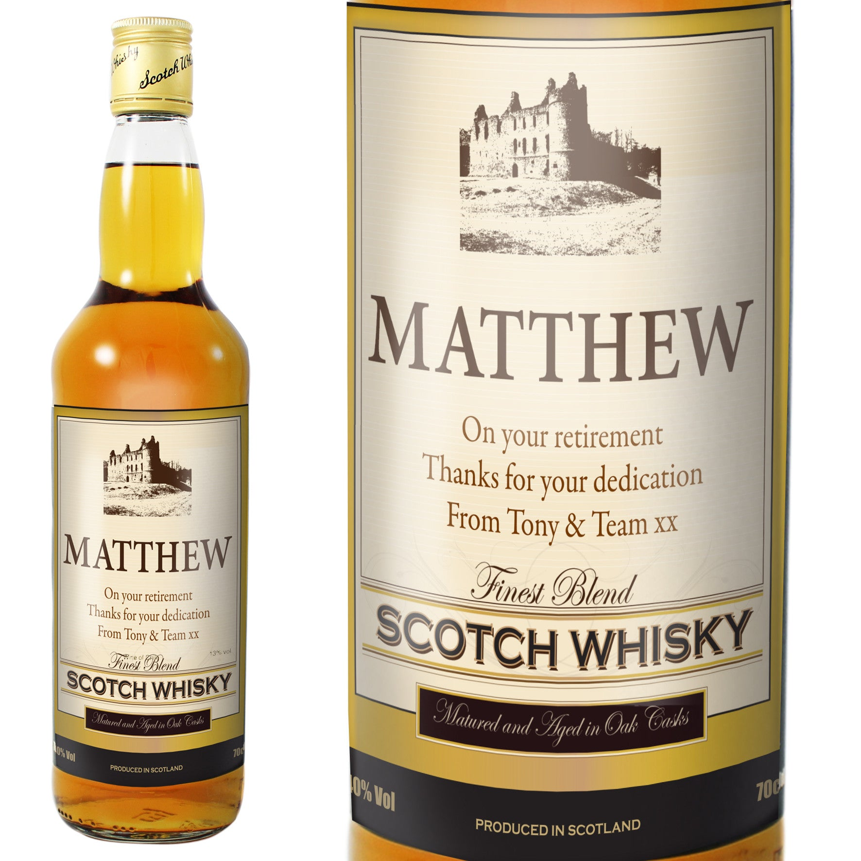 Personalised Traditional Castle Whisky