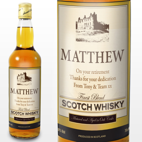 Personalised Traditional Castle Whisky - Shane Todd Gifts UK