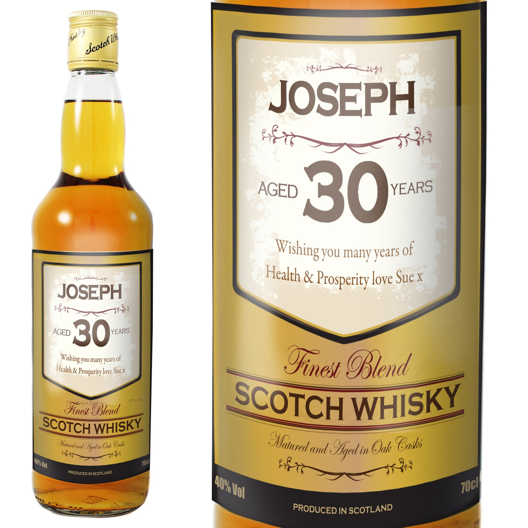 Personalised Age Whisky, Alcoholic Beverages by Low Cost Gifts