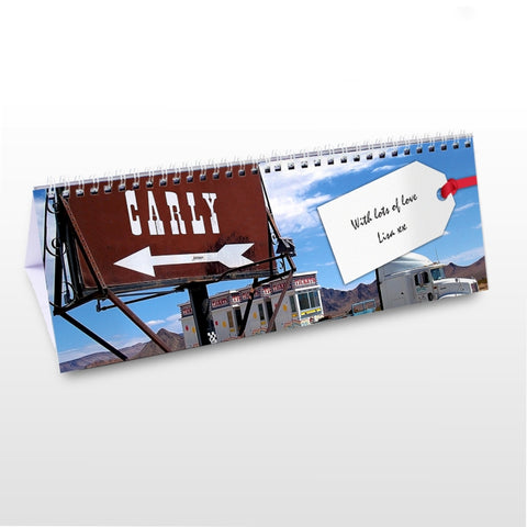 Buy Personalised All American Desk Calendar