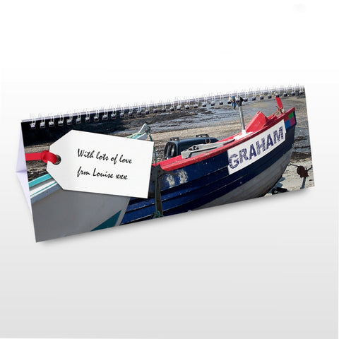 Buy Personalised Boats Desk Calendar