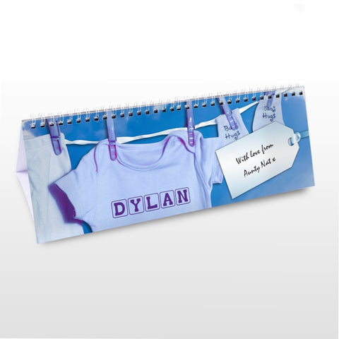 Buy Personalised Baby Boy Desk Calendar
