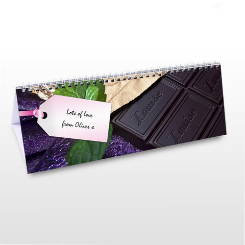 Buy Personalised Milk Chocolate Desk Calendar