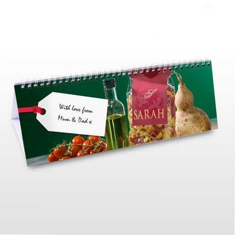 Buy Personalised Food Desk Calendar
