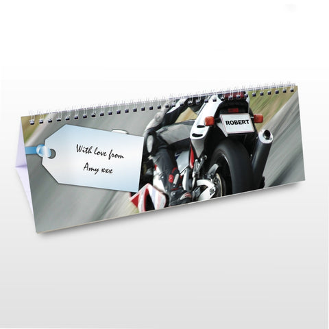 Personalised Vehicles Desk Calendar | ShaneToddGifts.co.uk