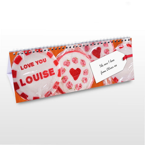 Buy Personalised One I Love Desk Calendar