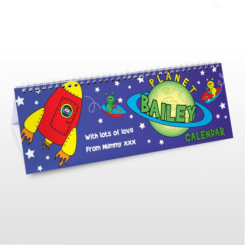 Buy Personalised Space Desk Calendar