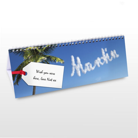 Buy Personalised Holiday Desk Calendar