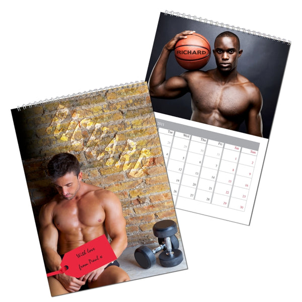 personalised-hot-hunks-a4-wall-calendar