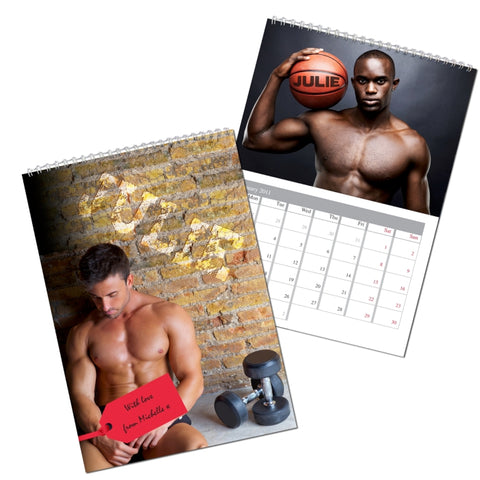 Personalised Hot Hunks A4 Wall Calendar | ShaneToddGifts.co.uk