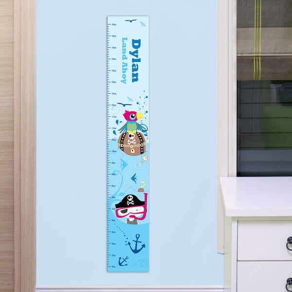 Personalised Pirate Height Chart