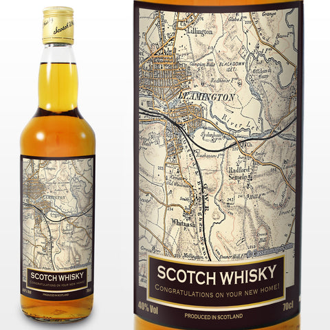 Personalised 1896 - 1904 Revised New Map Whisky | ShaneToddGifts.co.uk