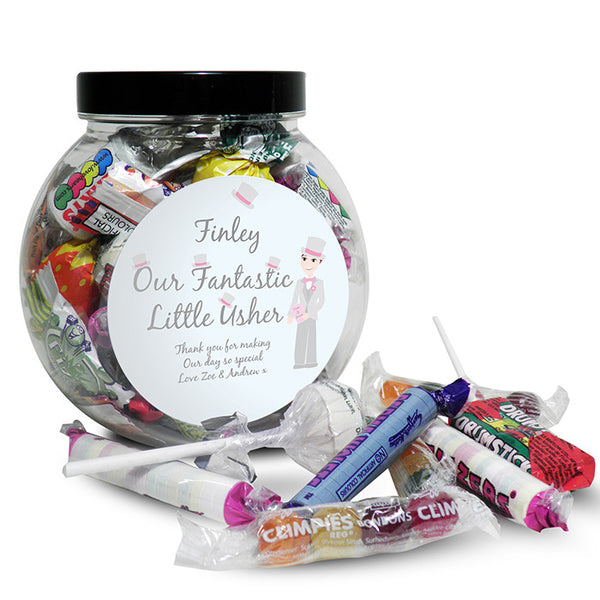 personalised-fabulous-usher-round-sweet-jar
