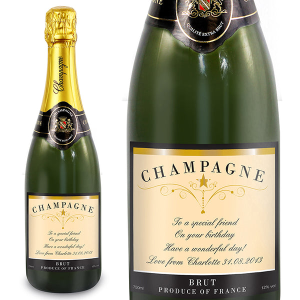 personalised-any-message-classic-label-champagne