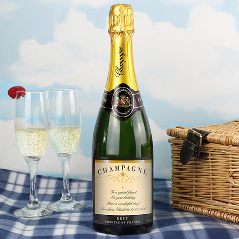 Buy Personalised Any Message Classic Label Champagne