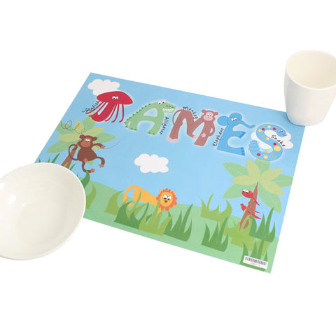 Buy Personalised Animal Alphabet Placemat