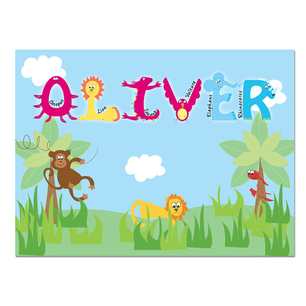 personalised-animal-alphabet-placemat