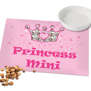 Personalised Pink Princess Pet Placemat