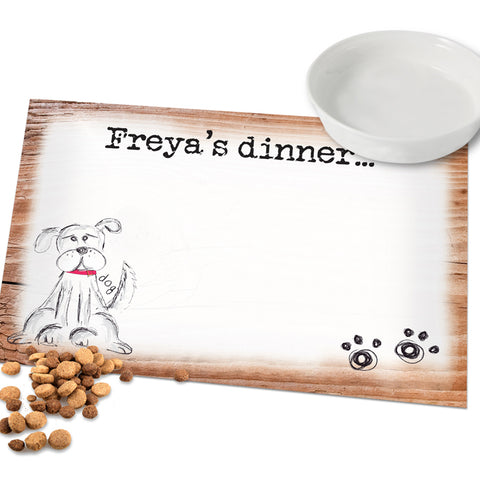 Personalised Scribble Dog Placemat | ShaneToddGifts.co.uk